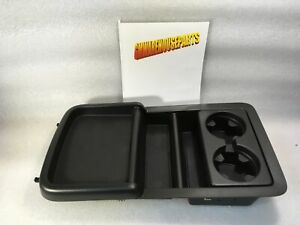 2007 2013 Silverado Sierra Black Center Console Tray With Cup Holder Gm 22860864