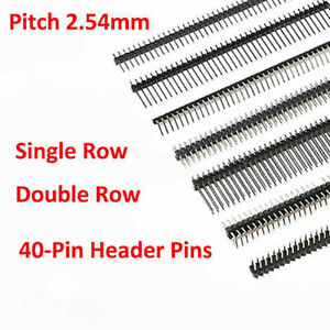 Straight right Angle smd 1x40 2x40 Male Pin Header 2 54mm Pcb Jumper Connector