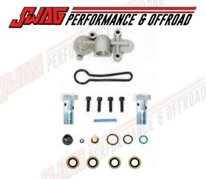 03 07 Ford 6 0l Powerstroke Diesel Fuel Pressure Regulator Blue Spring Banjo Kit