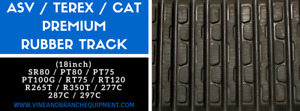 2x Premium Caterpillar 277c 287c 297c Rubber Tracks