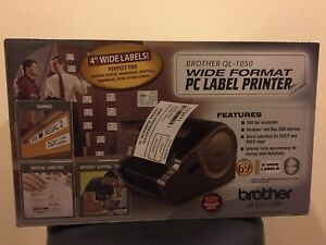 Brother Ql 1050 Wide Format Pc mac Label Printer Brand New Free Shipping
