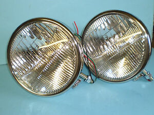 1933 1934 Ford Headlights Passenger Car Halogen 12 Volt Bob Drake Reproduction