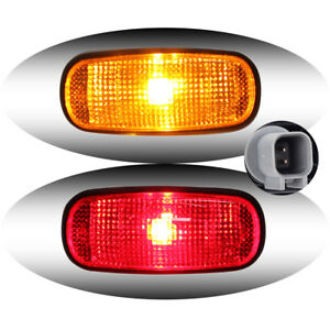 Dually Bed Side Marker Fender Light Amber Red Led For 03 09 Dodge Truck Pickup