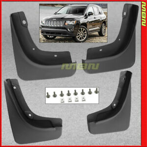Splash Guards Front Rear 2018 2019 Jeep Compass Latitude Limited Mud Flap Pair