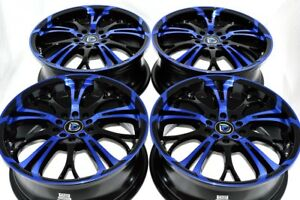 17 Blue Wheels Rims Camry Celica Xb Jetta Avenger Civic Accord Tsx 5x100 5x114 3