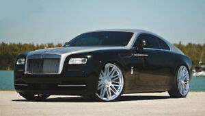 24 Rf24 Brushed Silver Wheels Rims For Rolls Royce Ghost Wraith 24x9 24x10