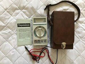 For Parts Vintage Made In Usa Beckman 3010 Digital Multimeter In Leather Case D1