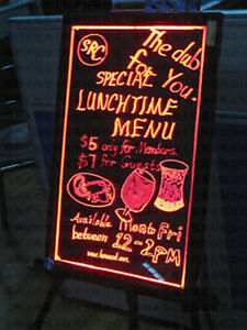 16 X 24 Led Writing Board Menu Flashing Fluorescent Sign Neon 3 Pens Message May