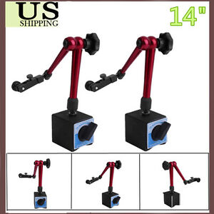 2pk Magnetic Base Adjustable Metal Test Indicator Holder Digital Level Stand 14