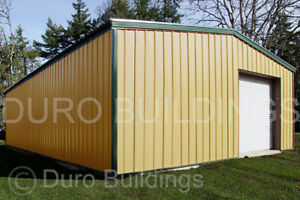 Durobeam Steel 25x50x16 Metal Garage Shop Clear Span I beam Building Kit Direct