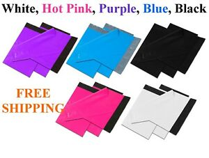50 1000 Colour Poly Mailers Shipping Envelopes Self Sealing Plastic Mailing Bags