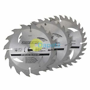 3 New Tct Circular Saw Blade 135mm Diameter 12 7mm Bore 10mm Ring Mitre Chop 1 2