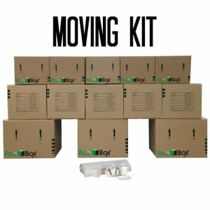 New Ecobox Brand Moving Kit 13 Small Medium And Large Boxes Plus Supplies