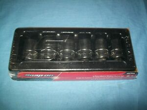 New Snap on 1 2 Drive 20 Thru 25 Mm 6 point Shallow Socket Set 306twm Sealed