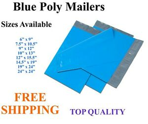 5 3000 Blue Poly Mailers Shipping Envelopes Self Sealing Plastic Mailing Bags