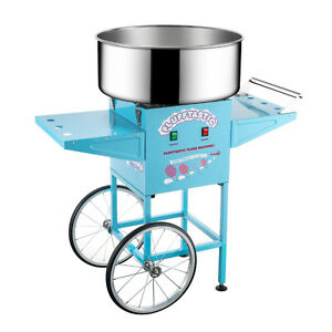 Commercial Quality Blue Cotton Candy Machine Floss Maker With Cart