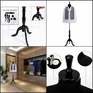Mannequin Wowell Male Dress Form Torso Black Cotton Fabric Wood Stand Jerseys