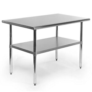 Gridmann Nsf Stainless Steel Commercial Kitchen Prep Work Table 48 In X 30
