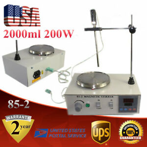 85 2 Heating Magnetic Stirrer W Digital Thermostat Hot Plate 2000ml 200w Usa