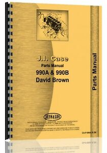 Case David Brown 990a 990b Tractor Parts Manual Catalog Oliver 600