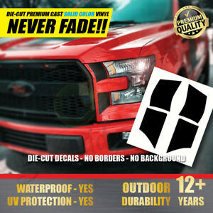 2015 2017 Ford F 150 Raptor Matte Black Headlight Decal Racing Stripe Stickers