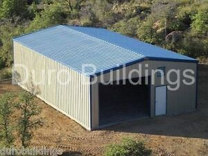 Durobeam Steel 25x40x16 Metal Garage Building Kit Workshop Barn Structure Direct