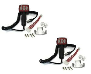 2 Pistol Grip Control Controllers 6 Pin For Western 56462 Handheld Unimount
