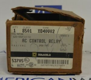 Square D 8501 Xo40v02 Ac Control Relay New
