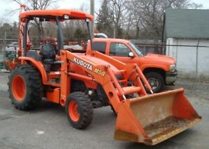Used 2014 Kubota Tractor Model M59 Tractor Loader backhoe Package Low Hours