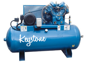 10hp Air Compressor Industrial Cast iron 2 Stage 120 Gallon