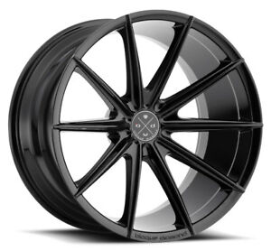 20 Blaque Diamond Bd 11 Gloss Black Wheels For Lexus Is250 Is350 Isf
