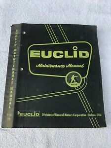 Oem Euclid 1 90 Fd dump Truck Maintenance Repair Service Manual Part 63sp12