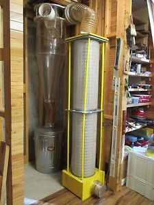 Dust Collection clear Vue Cyclones 5hp With Filters And Drum
