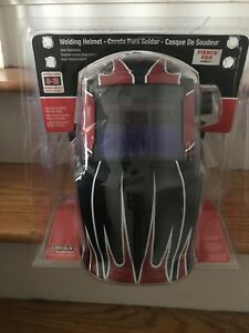 Lincoln Electric K3063 1 Auto darkening Welding Helmet Fierce Red