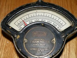 Vintage Motometer Thermometer Industrial Thermometer Motoco Model F2