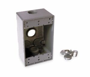 Lot Of 36 Hubbell bell 5324 0 Single Gang 3 3 4 inch Outlets Weatherproof Box