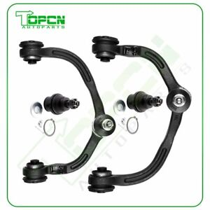 Steering 2x Upper Control Arms 2x Lower Ball Joints For 2003 06 Ford Expedition
