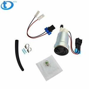 New F90000267 450lph E85 Performance Fuel Pump Racing W Install Kit