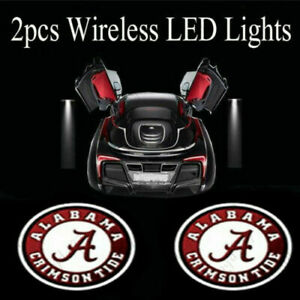 2x Wireless Led Car Door Light Alabama Crimson Tide Logo Shadow Car Styling Lamp