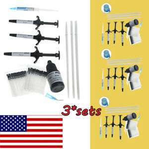 3 Kit Dental Orthodontic Bonding System Metal Bracket Light Cure Adhesive Kit