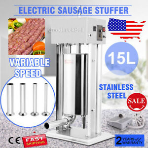 New High Torque Commercial Electric 12l Stainless Steel Sausage Stuffer 28lbs Us