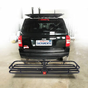 500lbs Steel Cargo Carrier Luggage Basket 2 Receiver Hitch Hauler