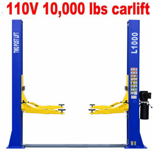 A 10 000 L1000 2 Post Car Lift Auto Truck Hoist 110v Free Shipping