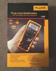 New Fluke 179 Esfp True Rms Multimeter With Backlight And Temp Fast Shipping