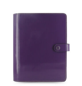 Filofax A5 Original Diary Notebook Purple Leather Planner Organiser 022441