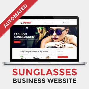 Turnkey Sunglasses Shop Ecommerce Business Website For Sale