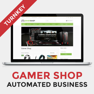 Affiliate Gamer Shop Automated Business Website For Sale