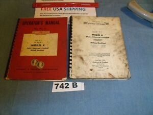 Machine Shop Tool Manual Kearney Trecker Model K Vertical Milling Machines
