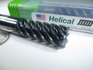 Helical Carbide 1 2 End Mill 7 Flute Milling Edp 24332 Titanium Hard Steel Tool