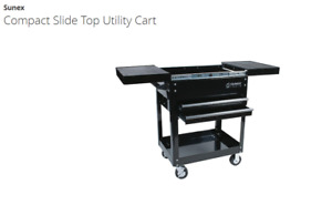 Sunex Compact Slide Top Utility Cart 8035 Service Cart New Black Pick Up Only